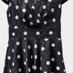 Betsey Johnson Dresses - BETSEY JOHNSON Retro Polka Dot Dress Fit n Flare
